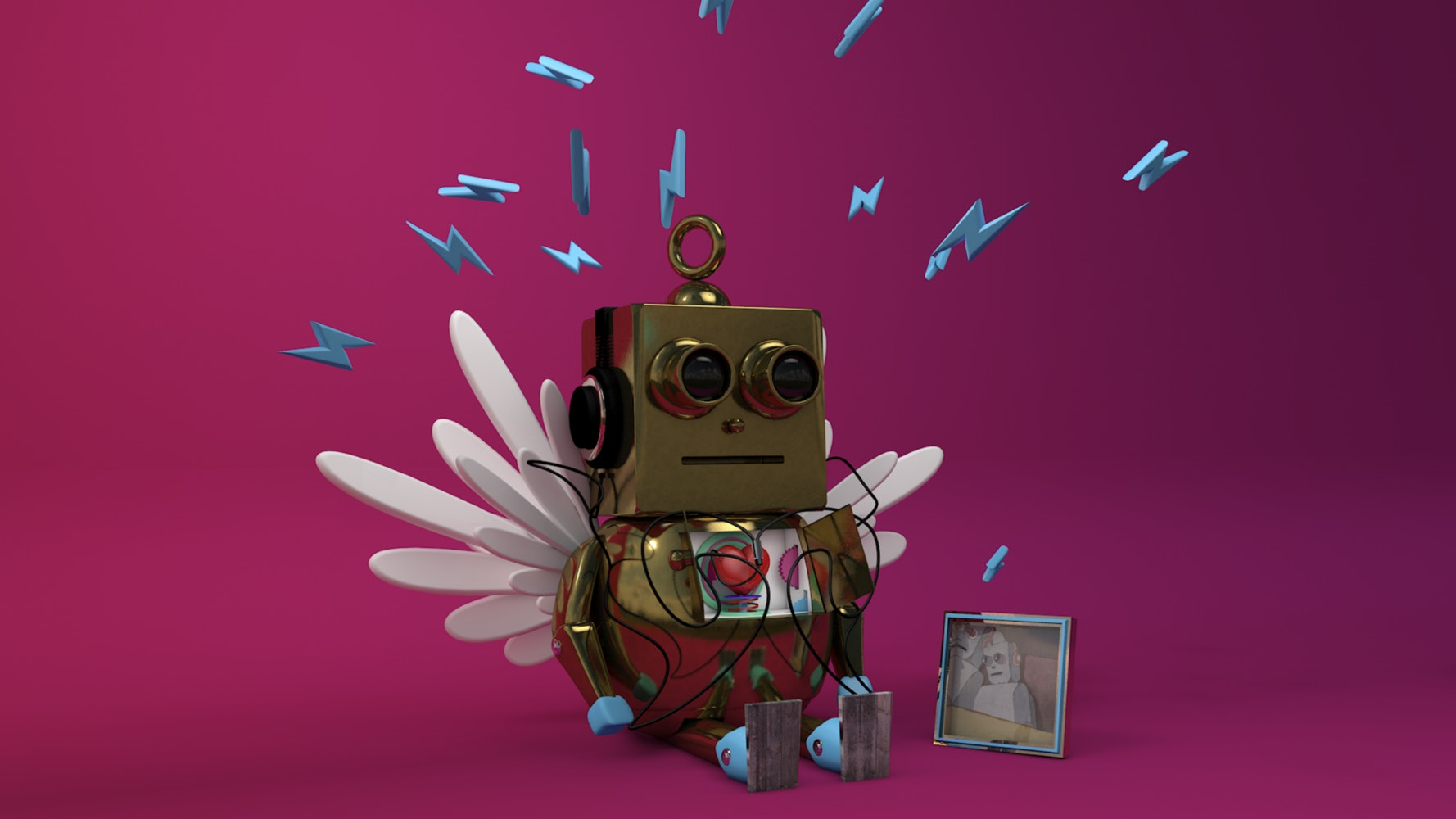 Small robot with wings