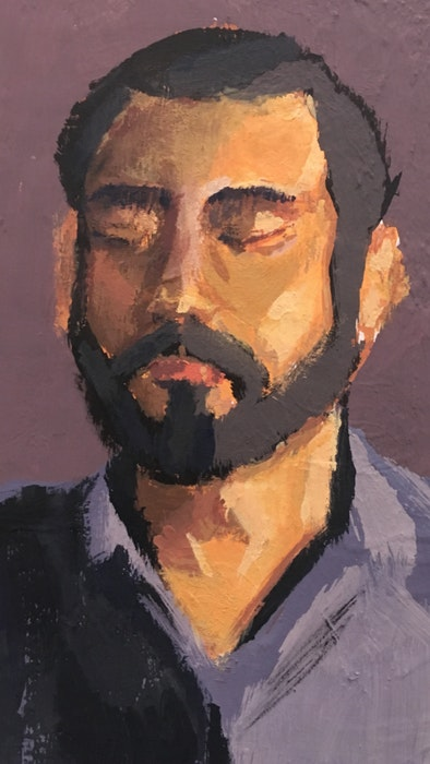 Portrait of a bearded man in a shirt
