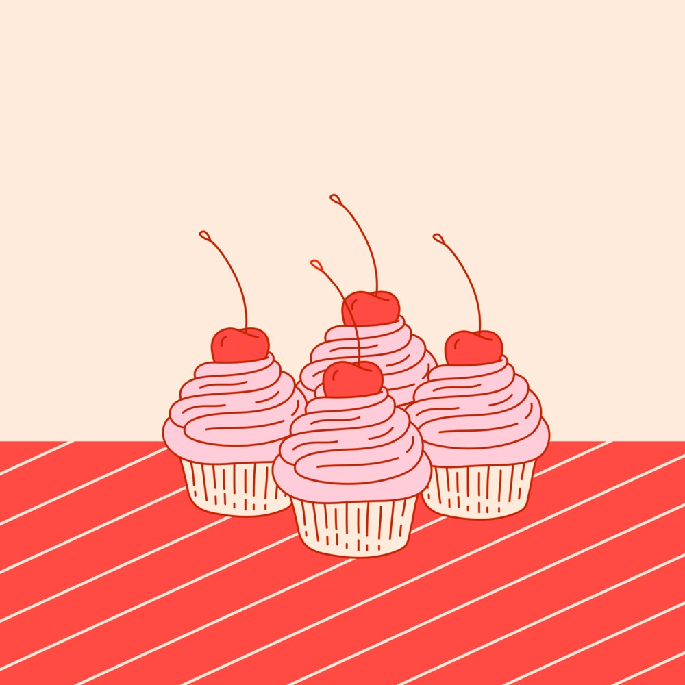 Cupcakes with a cherry on top