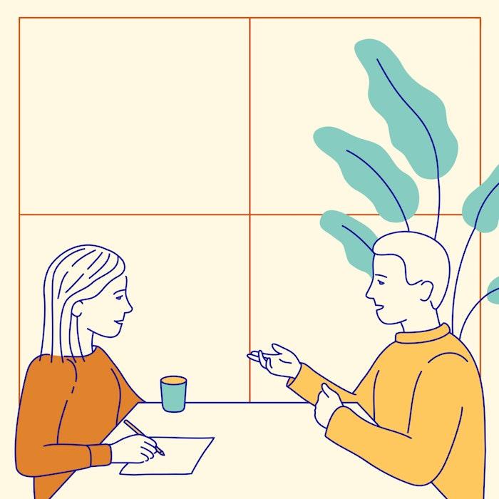 Job interview in a modern office