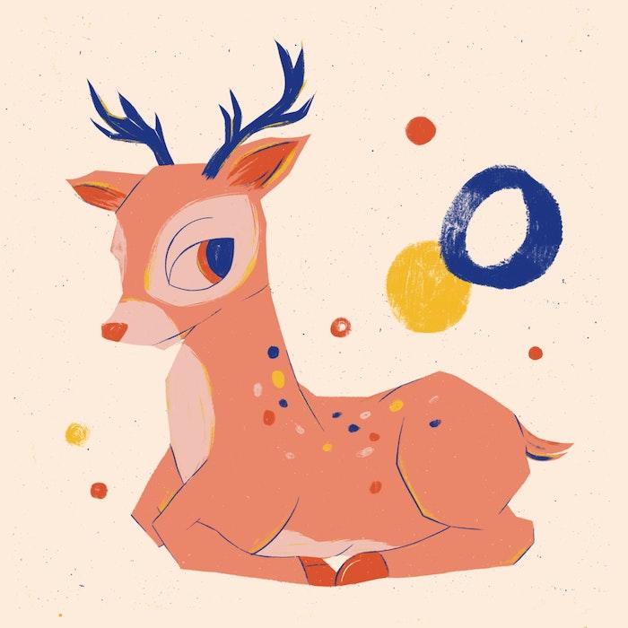 Festive Christmas reindeer