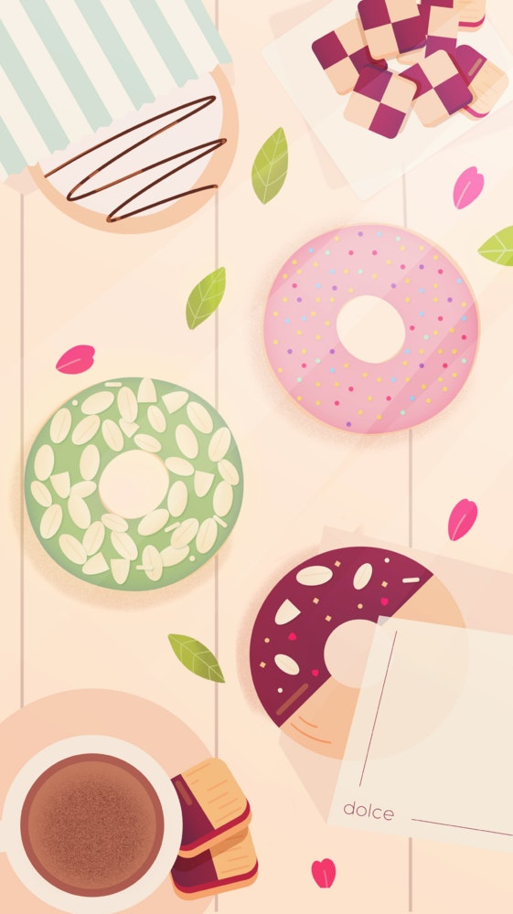 Assortment of donuts and sweets
