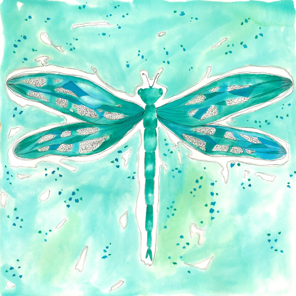 Bright Green dragonfly