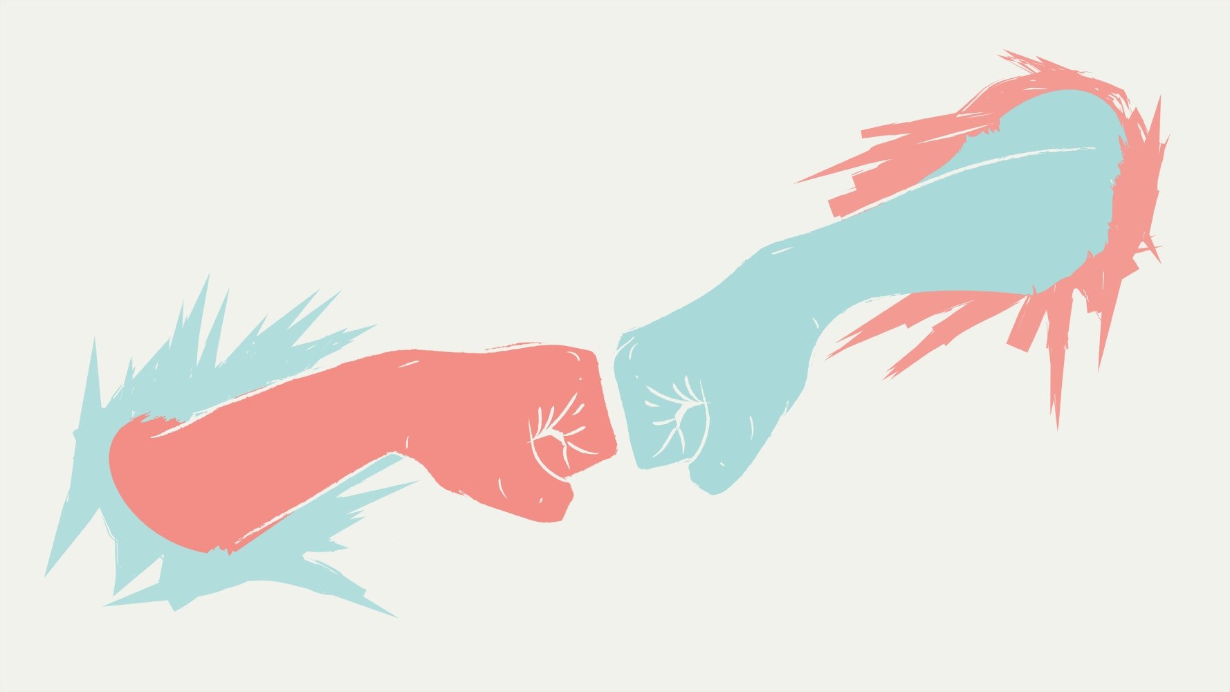 Fist bump between two people