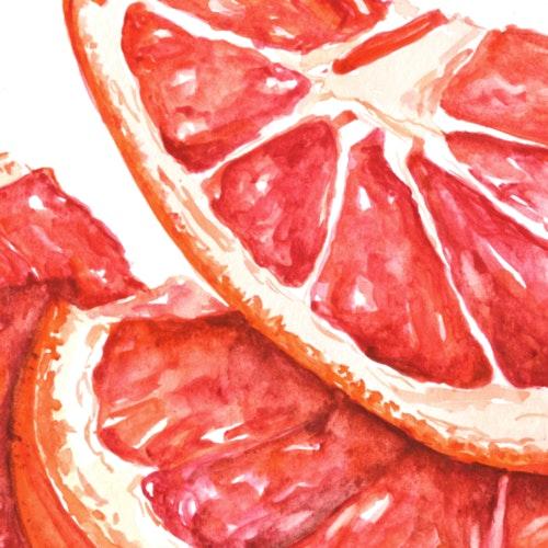 Juicy slices of fruit