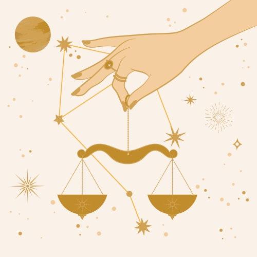 Libra zodiac star sign
