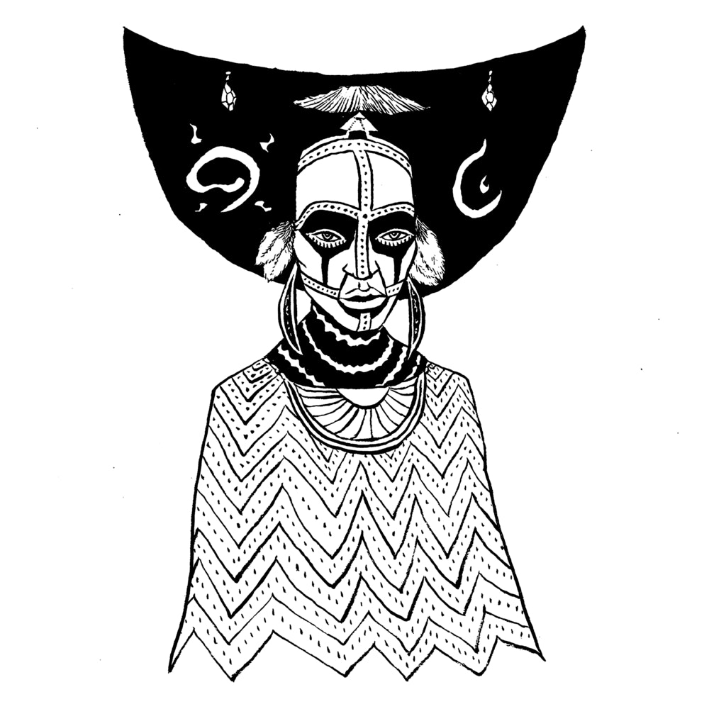 Person in tribal clothing