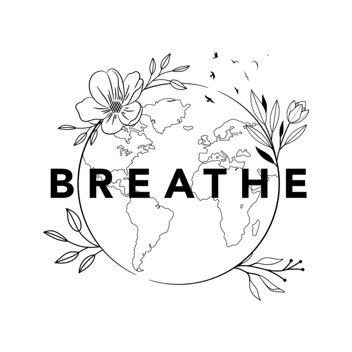Planet earth and the word Breathe