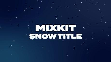 Bold Snow Title