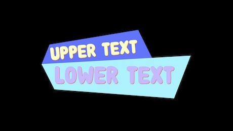 Cartoon Text Lower-third
