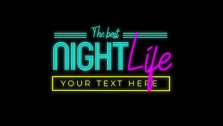Eighties Neon Title