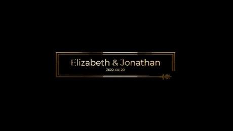 Elegant Golden Title