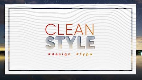 Framed clean title