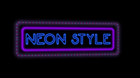 Neon Sign Title