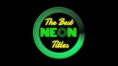 Round Border Neon Title