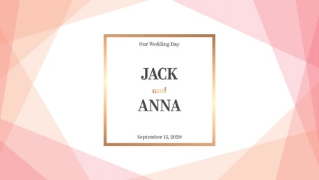 Simple Wedding Title