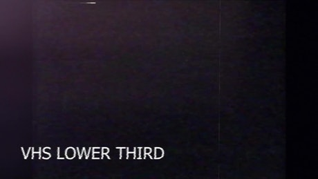 VHS Lower Third with overlay