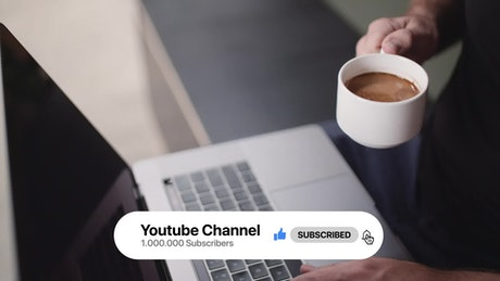 YouTube channel banner with buttons