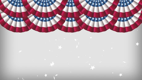 2D animation of USA Memorial day, title video
