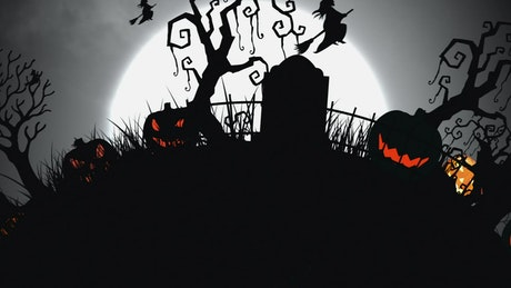 2D animation with halloween concept