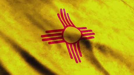 3D animation flag from New Mexico State in USA