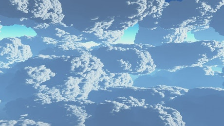 3D animation of clouds in the sky
