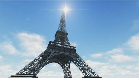 3D animation of the Eiffel Tower in Paris