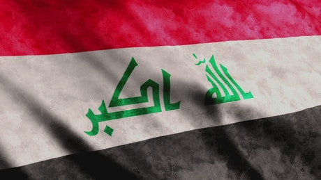3D flag from Iraq