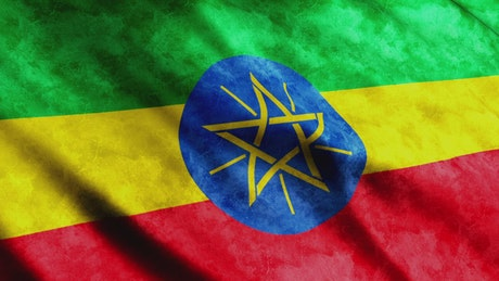 3D flag of Ethiopia country
