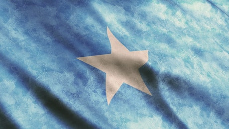 3D Flag of the African country of Somalia