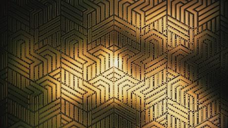 3D golden geometric figures