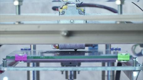 3D Printer beginning a model