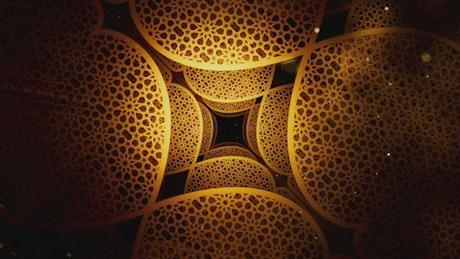 3D Ramadan Kareem pattern spinning