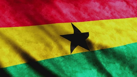 3D render of a flag from Ghana