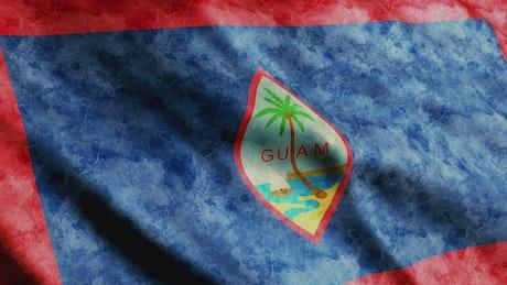 3D render of a Guam flag waving