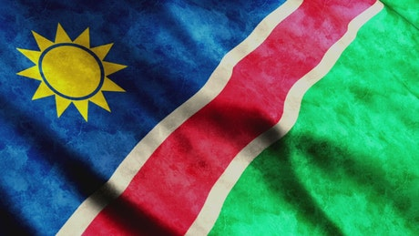 3D render of a Namibia flag