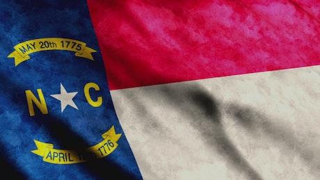3D Render of North Carolina State Flag