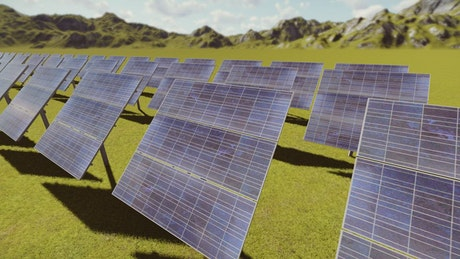 3D solar panels in the countryside