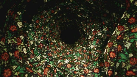 3D tunnel made with decoration fabric