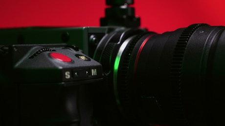 8K Camera closeup