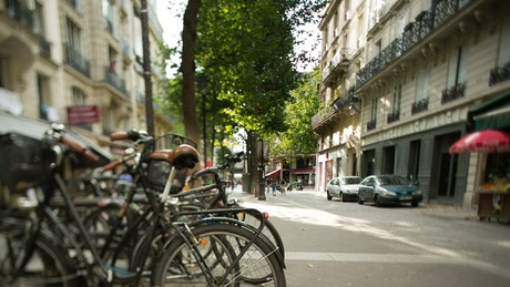 A calm street in Paris