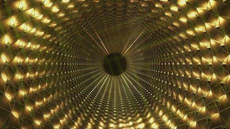 A golden tunnel, evolution concept