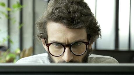A man focused on reading