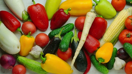 A mix of fresh vegetables