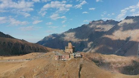 A monastery on a remote mountain
