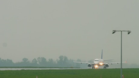 A private jet taking off