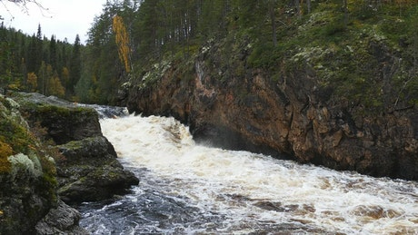 A river flowing between the rocks