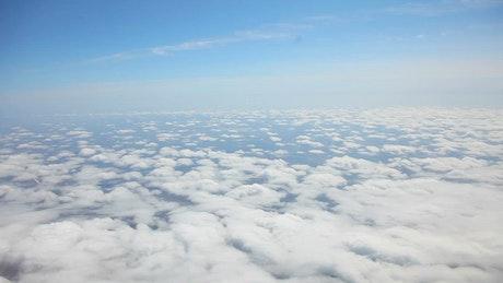A sea of clouds in the sky