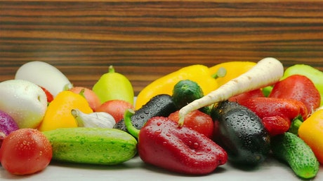 A variety of fresh vegetables