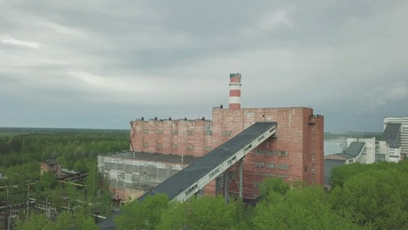 Abandoned industrial zone